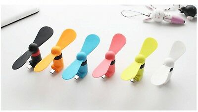 Micro Mini USB Electric Fan Chic Phone Cooling For Android Phone Samsung HTC New
