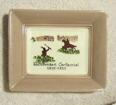 Hutchinson MN Centennial 1855-1955 Glass Wallhanging hand painted Annie Laura