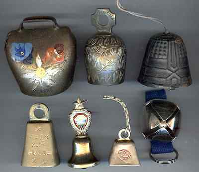 10 Different Small Metal Bells