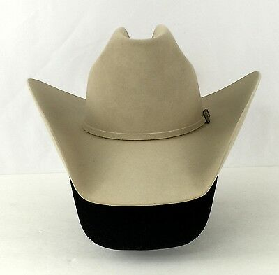200X Resistol 6 3/4 Long Oval Chamois Tan Self Conforming Western Cowboy Hat