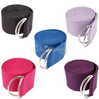 New Yoga Stretch Strap D-Ring Belt Waist Leg Fitness Training Exercise Gym