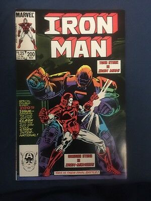 Iron Man #200,double Anniversary Issue,nm- Copy,accurate Grading!