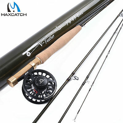 Maxcatch 3WT 7'6'' Fly Rod Combo Medium-Fast Fly Fishing Rod & CNC machined Reel