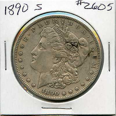 1890-S $1 Morgan Silver Dollar. Circulated. Lot #2327