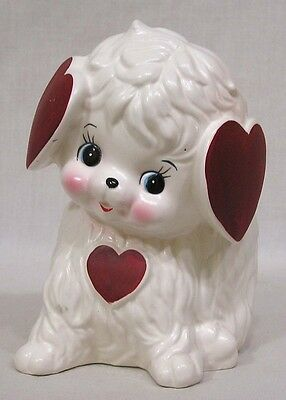 Vintage Caffco Valentine DOG Planter Heart Shaped Ears CUTE!