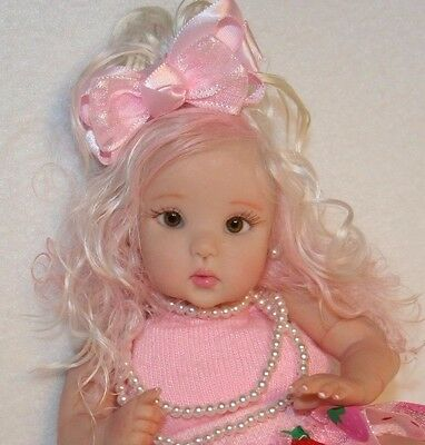 "Ooak Sculpted Miniature Clay Baby Doll Girl 5.5"" by Serena Butterfly ƸӜƷ"
