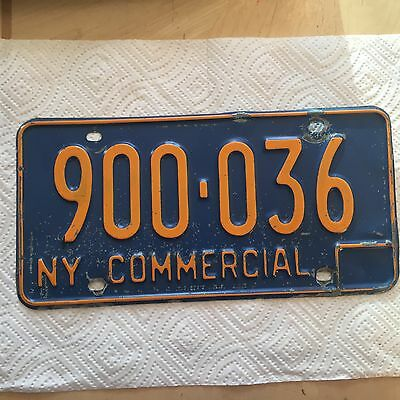 "1966  New York Commercial License Plate "" 900 036 "" Ny Empire State Truck"