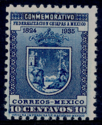 vm36 Mexico #722a 10ctv Chiapas Unwatermarked SC $125 MNH Scarce Example
