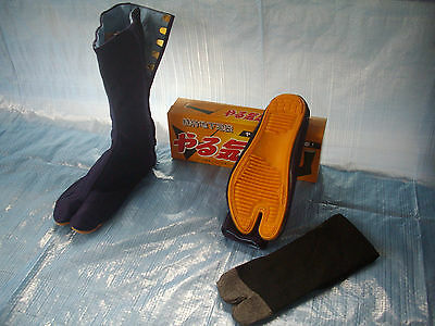 Japanese Ninja Tabi Boots Socks UK6 - UK10 24cm - 28cm with socks