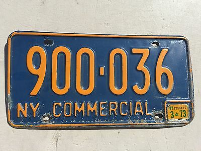 "1973 New York Commercial Truck  License Plate  "" 900 036 ""  Ny 73"