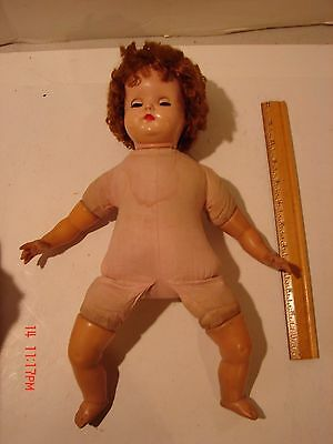 Vintage 15 Inch Madame Alexander Doll Baby Soft Body Eyes Open Close Lashes