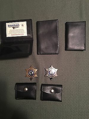 Illinois Security Officer Badges Gold and Silver with Extras!