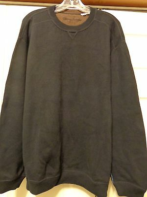 Tommy Bahama Cotton Crew Neck Pullover Sweater.....men's Xl.....black