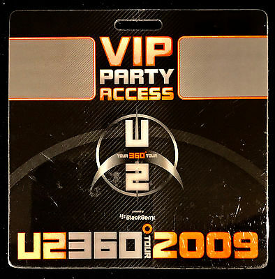 U2 - VIP Party Access Laminate Pass - 360 World Tour 2009 - LAST ONE!!