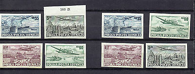Poland     10. Iv.  1952.    Set  Of   4  Imperforated  Stamps  X   2