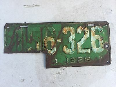 "Colorado 1926 Passenger Auto  License Plate ""156 326 "" Co 26  Can Be Restored !"