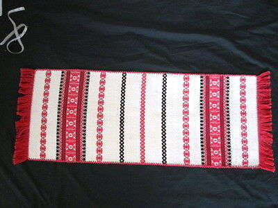 Hungarian Irasos Embroidered Hand Woven Wall Hanging Runner15X41""