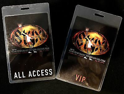Styx - All Access & VIP Tour Laminate Backstage Passes - LAST SET!!