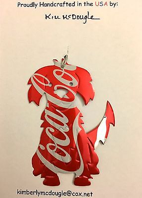 Dog Recycled Aluminum C Cola Soda Pop Can Art Christmas Ornament