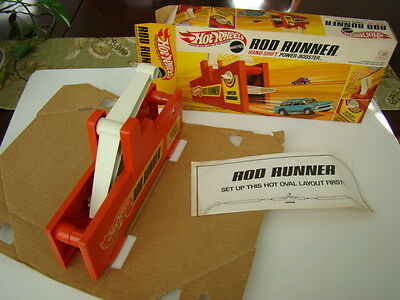Mattel Hot Wheels Rod Runner Hand Shift Power Booster, Instructions & Box 1969