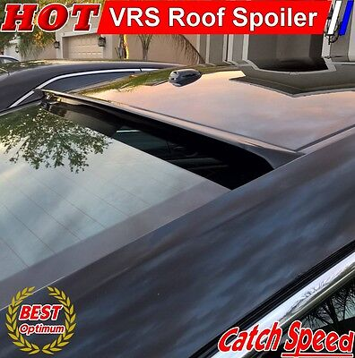 PUF Fits 09-14 Acura TSX CU2 4Dr VRS Style Roof Spoiler Unpainted Black