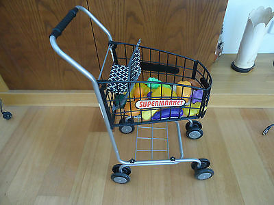 Playing Shopping Trolley & Cash Register with play Food - P/Up Melb