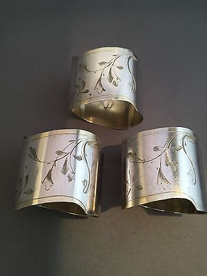 Imperial Russian Silver 84  Napkin Rings. 3ps.