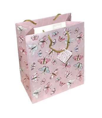 Butterfly Print Gift Favour Bags Cord Handle - Lesser & Pavey Gift Bag  Packs