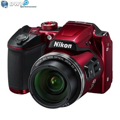 Nuovo Nikon Coolpix B500 Fotocamera Digitale Rosso Red 16Mp 40X Zoom Full Hd