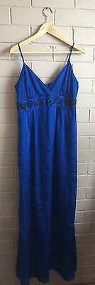 Review Blue Maxi Cocktail Dress Size 14