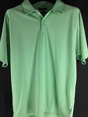 Mens Zero Restriction Tour Series Green Short-Sleeve Polo Golf Shirt Large