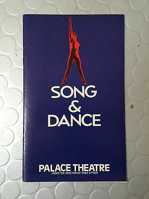 Theatre Programme for Song & Dance at Palace Theatre 1982 Webb & Wayne Sleep