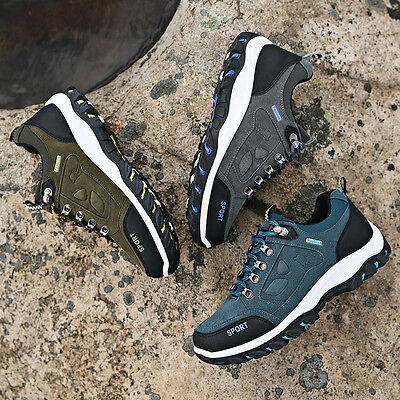 New Men's Running Climbing Hiking Sports Athletic Shoes Casual Lace Up Sneakers