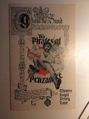 The Pirates Of Penzance At Theatre Royal Drury Lane Theatre Program