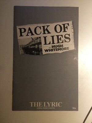 Pack Of Lies By Hugh Whitemore At The Lyric Theatre Program