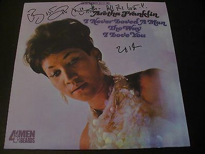 Aretha Franklin Signed+Inscribed I Never Loved A Man The Way I Love You +LP+COA