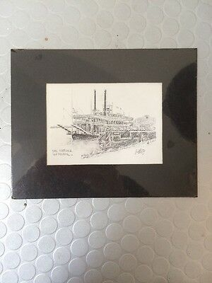 Print Of Drawing Of The Natchez New Orleans By Artist Brent McCarthy