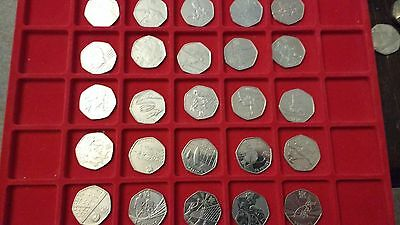 50p Coins for Olympic Game London 2012