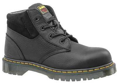 Size 7 Work Boots, Men's, Black, Steel Toe, M, Dr. Martens