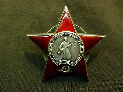 Russian Soviet WWII Order Red Star SN # 1,112,756 SILVER Nice USSR
