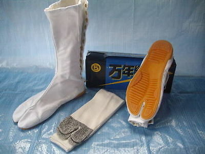 Marugo Mannen White Ninja Tabi Boots Socks UK6/JP24cm-UK10/JP28cm ALL SIZES