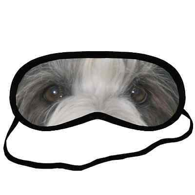 New BEARDED COLLIE EYES Dog Puppy Lovers Small-Med Size Black SLEEPING MASK Gift