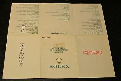 VINTAGE ROLEX  SUBMARINER 16613  - garantie - certificated paper (N Serial )
