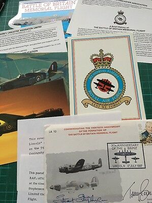 Battle Of Britain  RAF Signed Cover - Anniversary