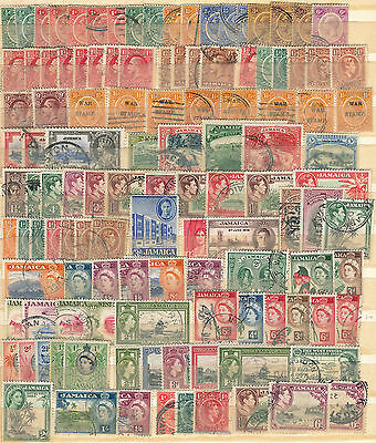 Collection Of Early To Mid Jamaica Good Used