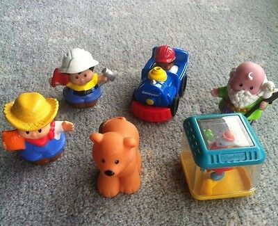 Fisher Price Little People X 6 Bulk Lot People And Vehicle Sooo Cute