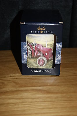 Stunning Vintage Boxed Border Fine Arts Collectors Mug The First Cut Tractor