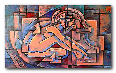 modern abstract  art oil painting on canvas no frame