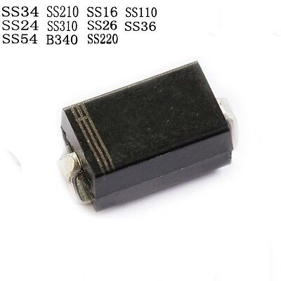SMD SMT Schottky Diodes SS34/54/24/12/210/310/110/260 SR36 1N5819 SMA Series New