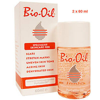Bio-Oil 2 x 60 ml for scars, stretch marks and dehydrated skin